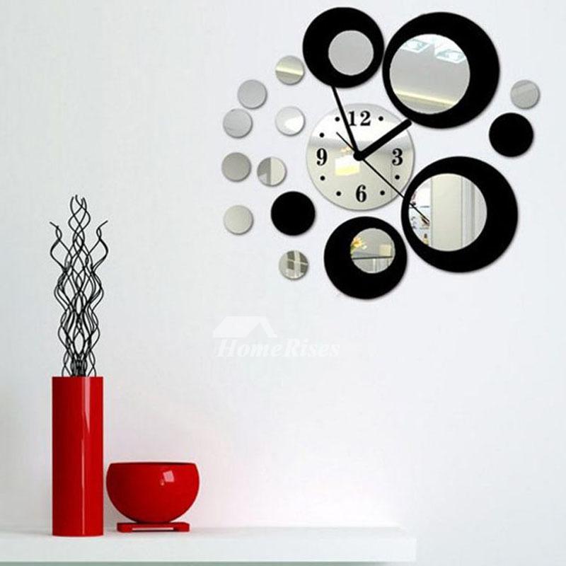 Acrylic Mirror Decoration Silent Wall Clock Big Simple Modern Personalized