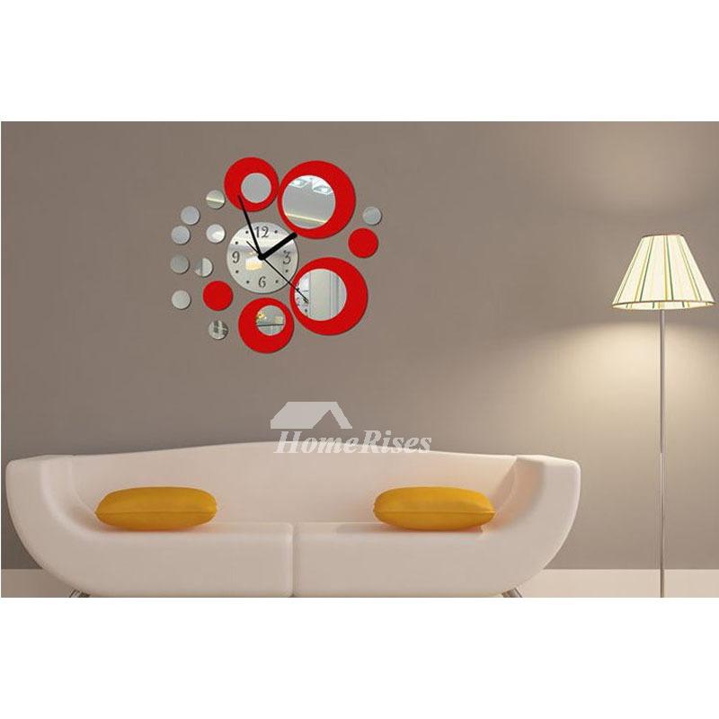 Cheap Acrylic Mirror Silent Big Wall Clock Personalized