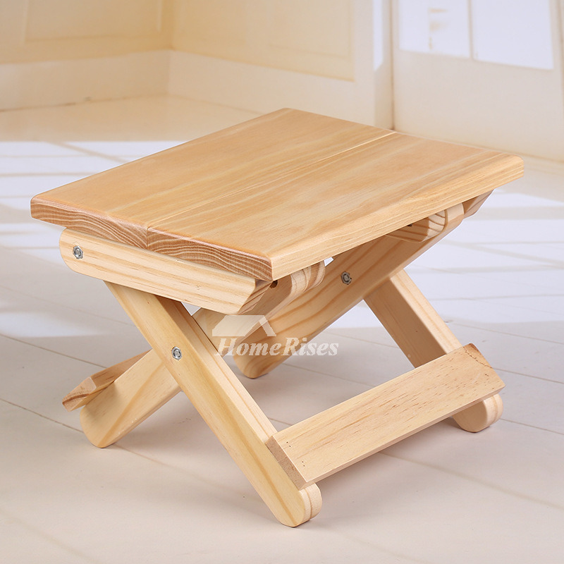Superb Outdoor Wood Bamboo Portable Folding Stool Kids Small Shower Seat Machost Co Dining Chair Design Ideas Machostcouk