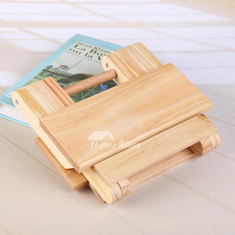 Outdoor Wood Bamboo Portable Folding Stool Kids Small
