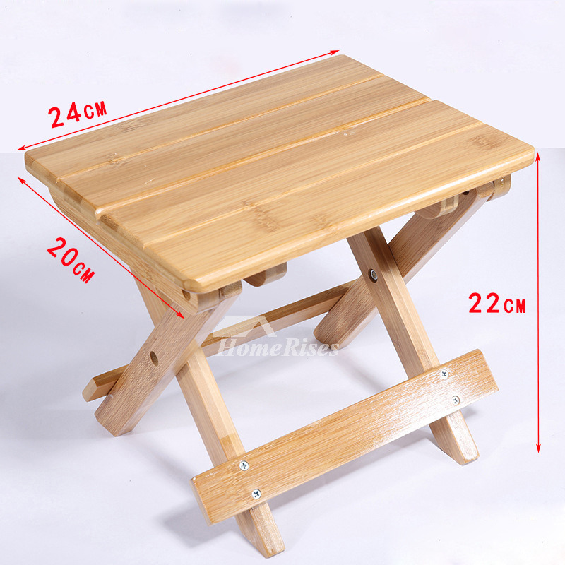 Surprising Outdoor Wood Bamboo Portable Folding Stool Kids Small Shower Seat Machost Co Dining Chair Design Ideas Machostcouk
