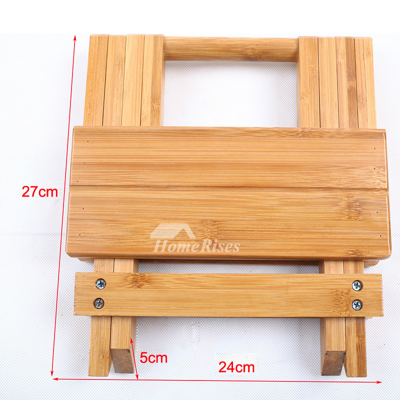 Excellent Outdoor Wood Bamboo Portable Folding Stool Kids Small Shower Seat Uwap Interior Chair Design Uwaporg
