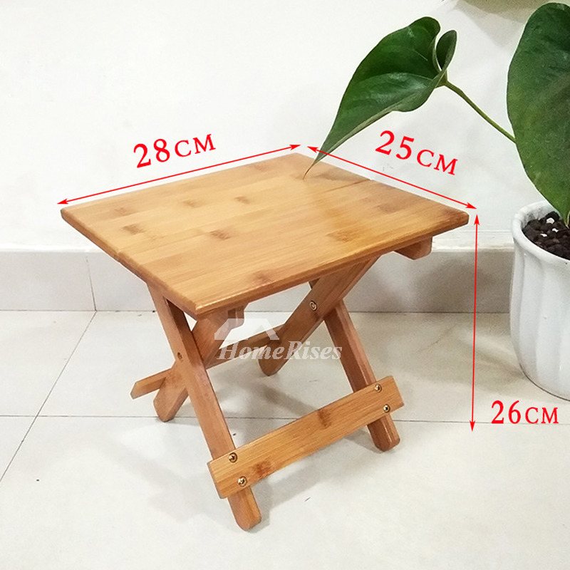 Groovy Outdoor Wood Bamboo Portable Folding Stool Kids Small Shower Seat Machost Co Dining Chair Design Ideas Machostcouk