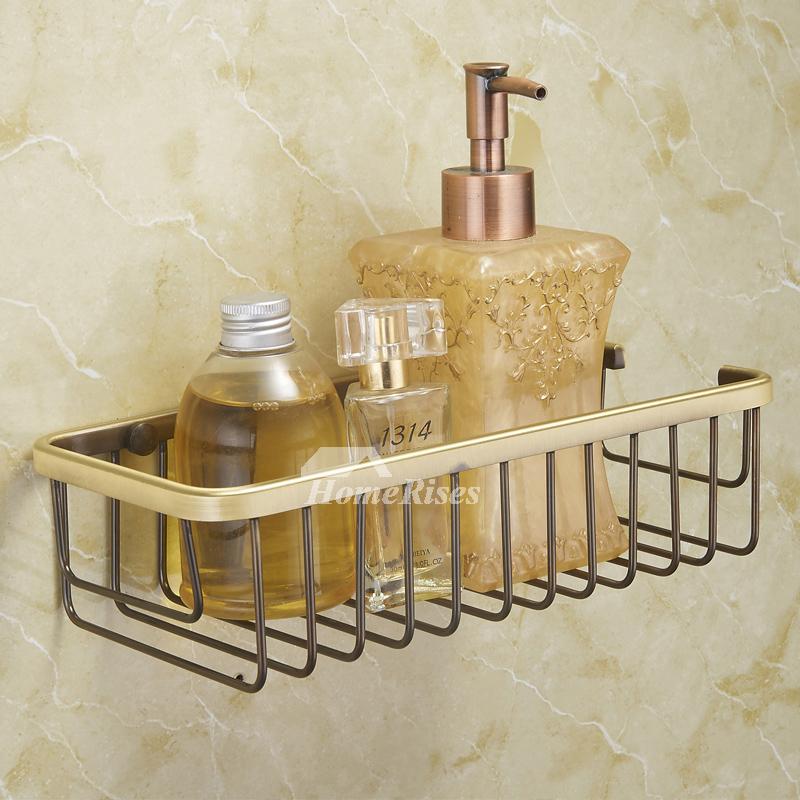 Wall Mounted Bathroom Polished Gold Soap Holder Basket