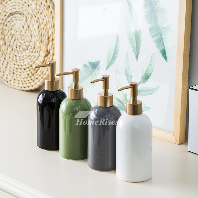 Ceramic Soap Dispenser Fashion Creative Solid Color