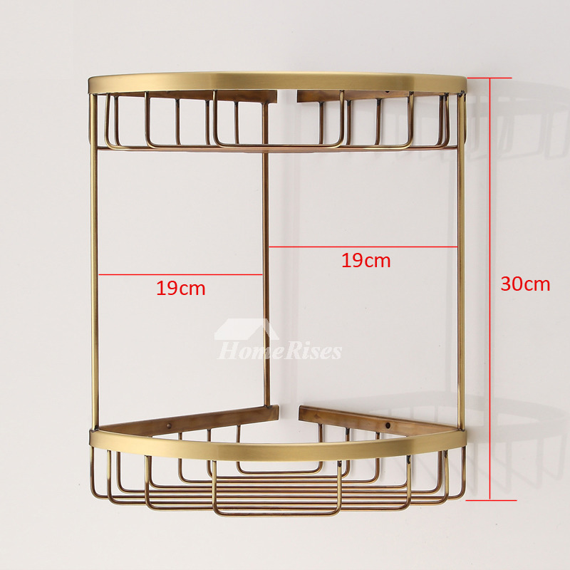 Gold Fine Br Bathroom Corner Shelf