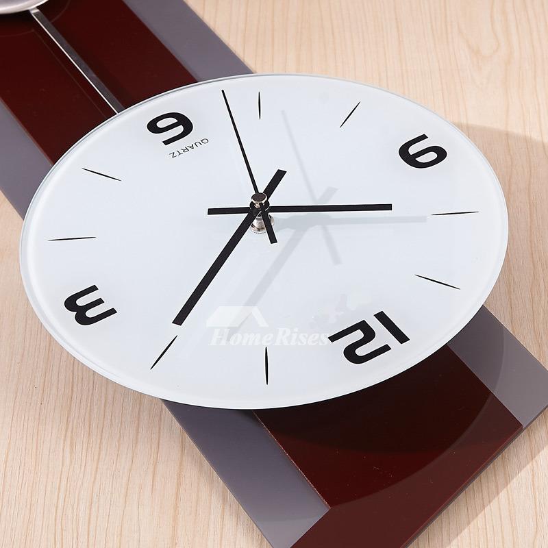 Large Modern Wall Clocks Decorative Pendulum Coffee Quartz