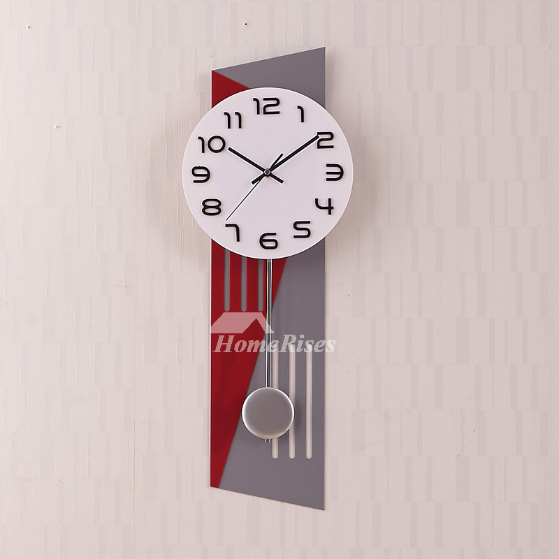 Modern Large Wall Clocks Unique Rectangle Living Room Best Quiet Grey