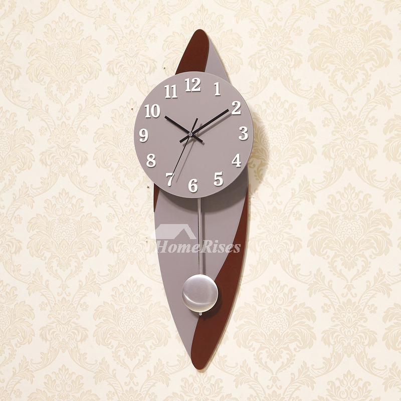 Pendulum Wall Clock Large Modern Decorative Cool Unique