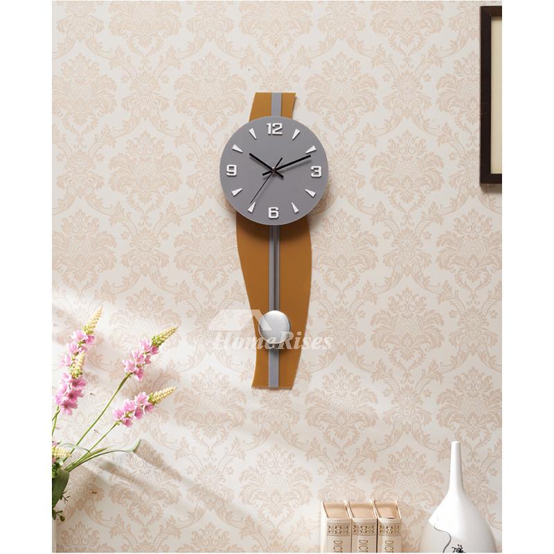 Large Pendulum Wall Clocks Decorative Contemporary Gold