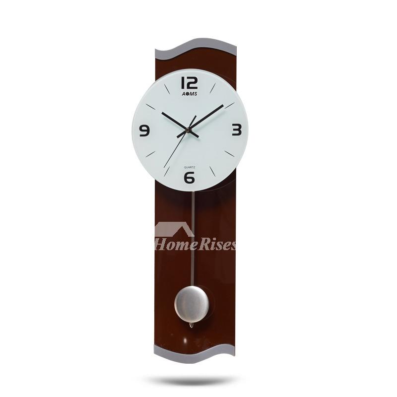Unique Wall Clocks Large Decorative Pendulum Rectangle