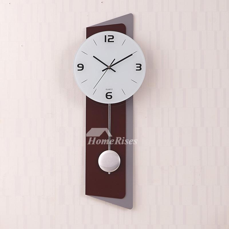 Large Wall Clocks Pendulum Modern Decorative Coffee Silent