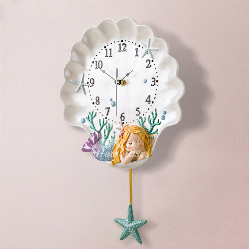 Beach Themed Wall Clocks Pendulum Personalized Nautical
