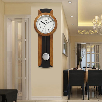 Large Wall Clocks Decorative Floral Silver White Silent