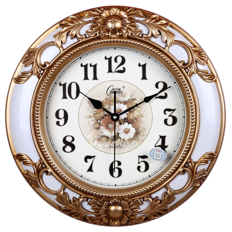 Decorative Large Country Wall Clocks Modern Silent Rustic ...