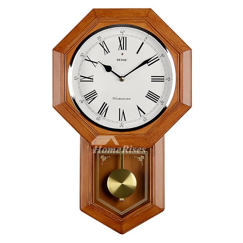 Musical Wall Clocks Pendulum Rustic Large Decorative