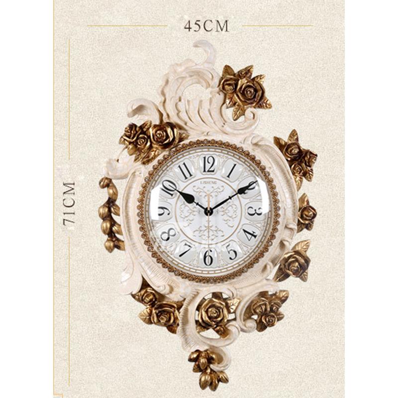 Beautiful Floral Wall Clocks Decorative Silent Large Living Room Quartz