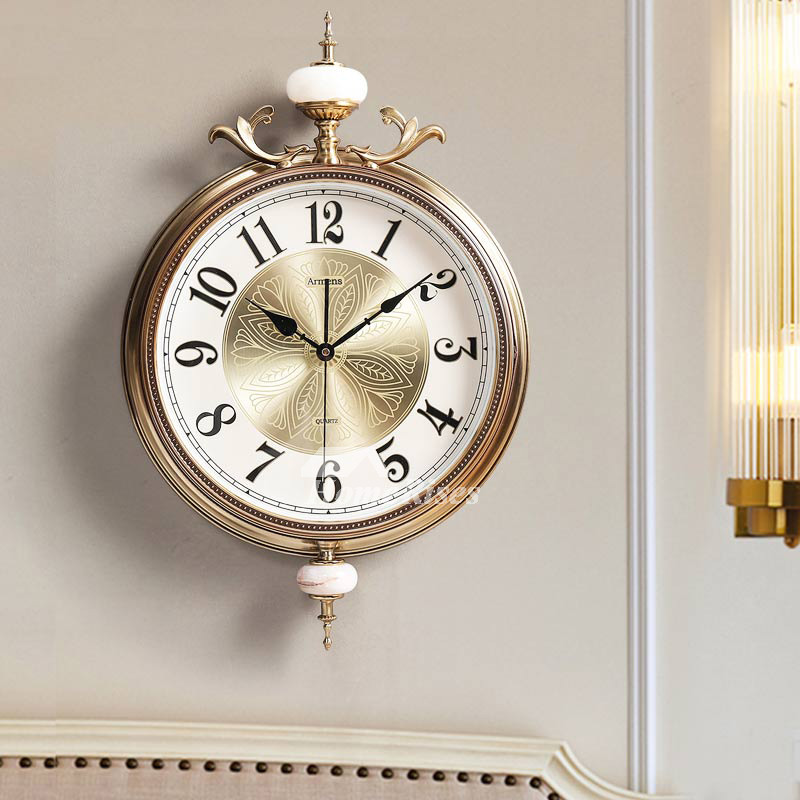 Metal Wall Clock Modern Decorative Luxury Gold Silent Bedroom