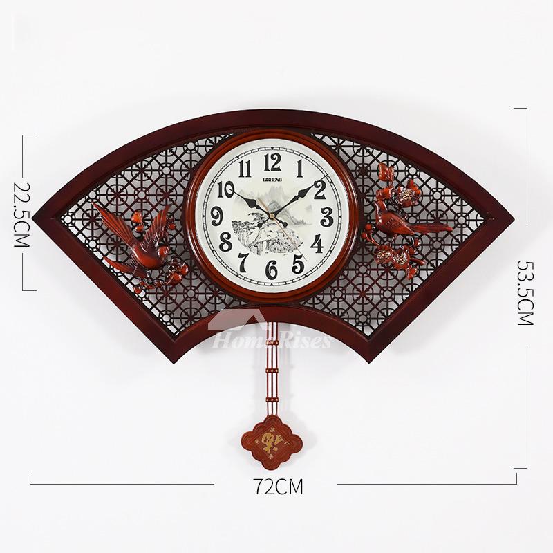 Antique Large Decorative Wall Clocks Unique Wooden Silent
