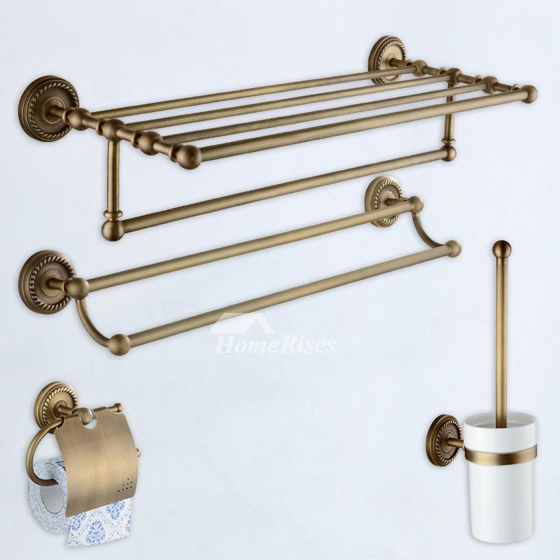 Antique Brass Bathroom Accessories Country Unique Best Vintage Style
