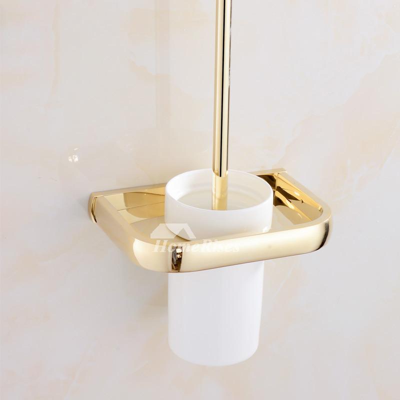 Unusual Bathroom Accessories: Polished Brass Bathroom Accessories Gold Luxury Unique Modern