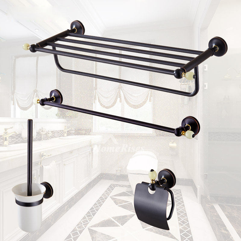 Oil rubbed bronze bathroom accessories black brass marble - Rubbed oil bronze bathroom accessories ...