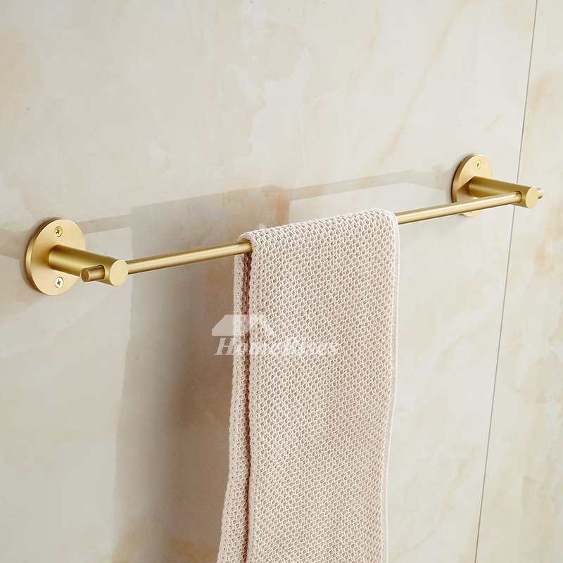 Brushed Br Wall Mounted Towel Rack