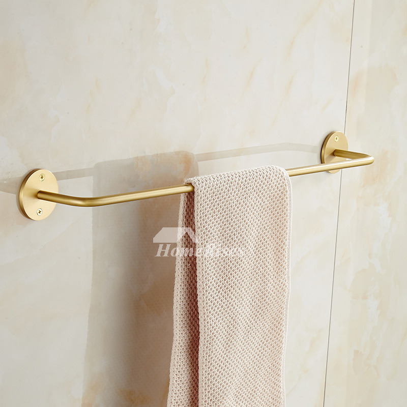 Best Brushed Brass Wall Mounted Towel Rack Gold Bathroom