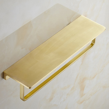 Brass Bathroom Shelf