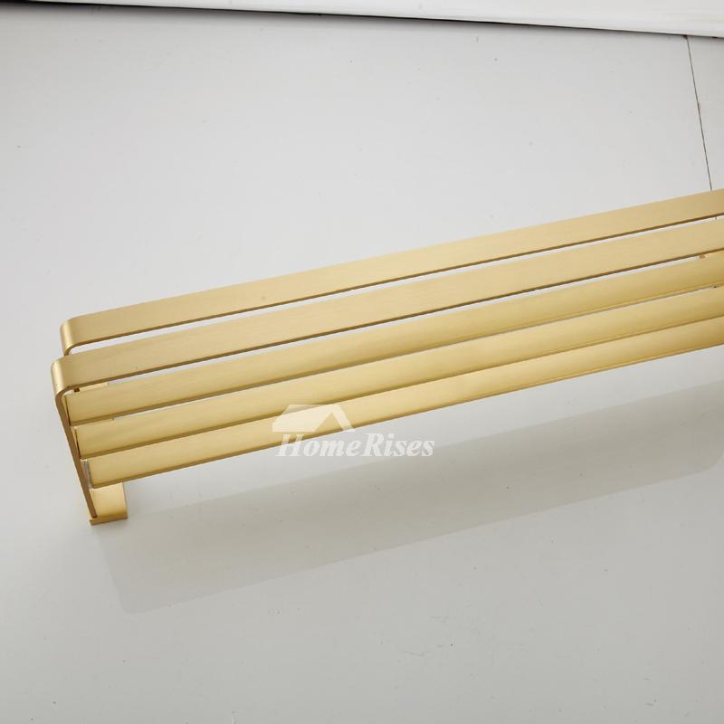 IYTSIDE Bathroom Towel rack Solid Brass Brushed with 1 Rod For Kitchen Bathroom Balcony