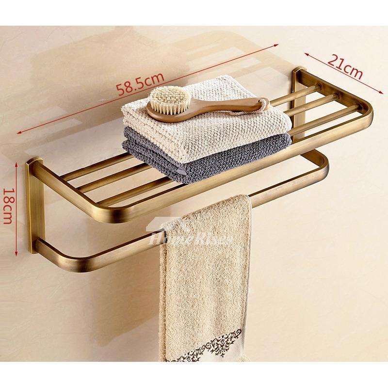 Antique Towel Rack Wall Mounted Unique Bathroom Brass Modern