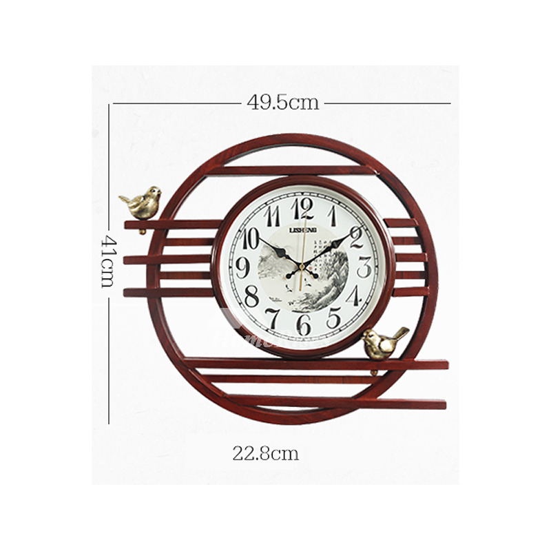 Large Wall Clocks Vintage Silent Wooden Unique Creative