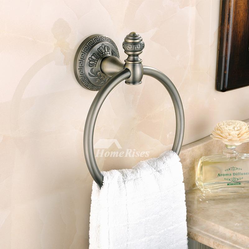Vintage Bathroom Brushed Wall Mounted Towel Ring Antique Br