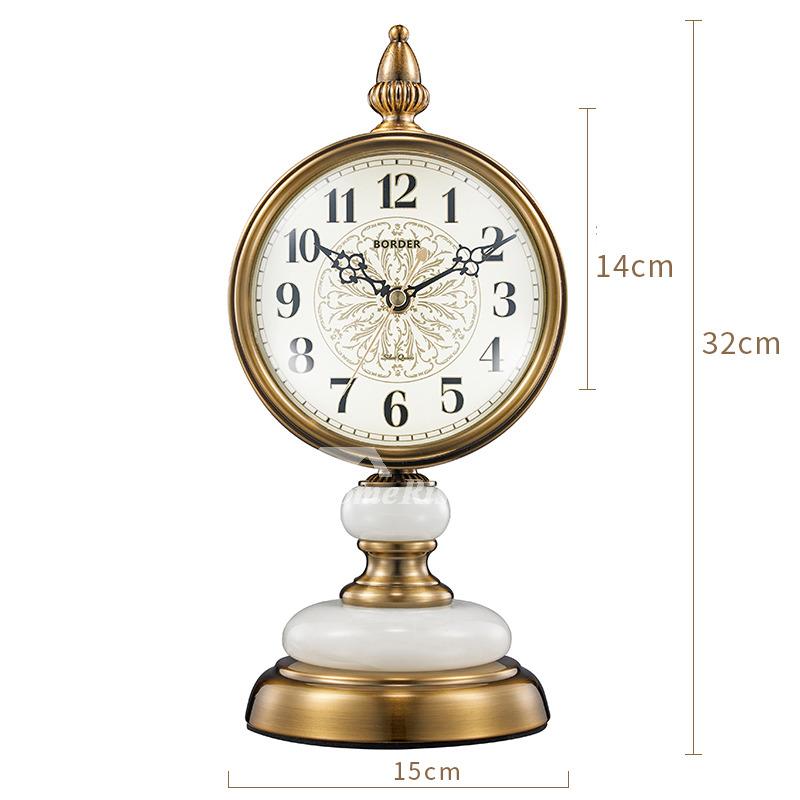 Pictures Show. Gold Bronze Retro Table Clock ...