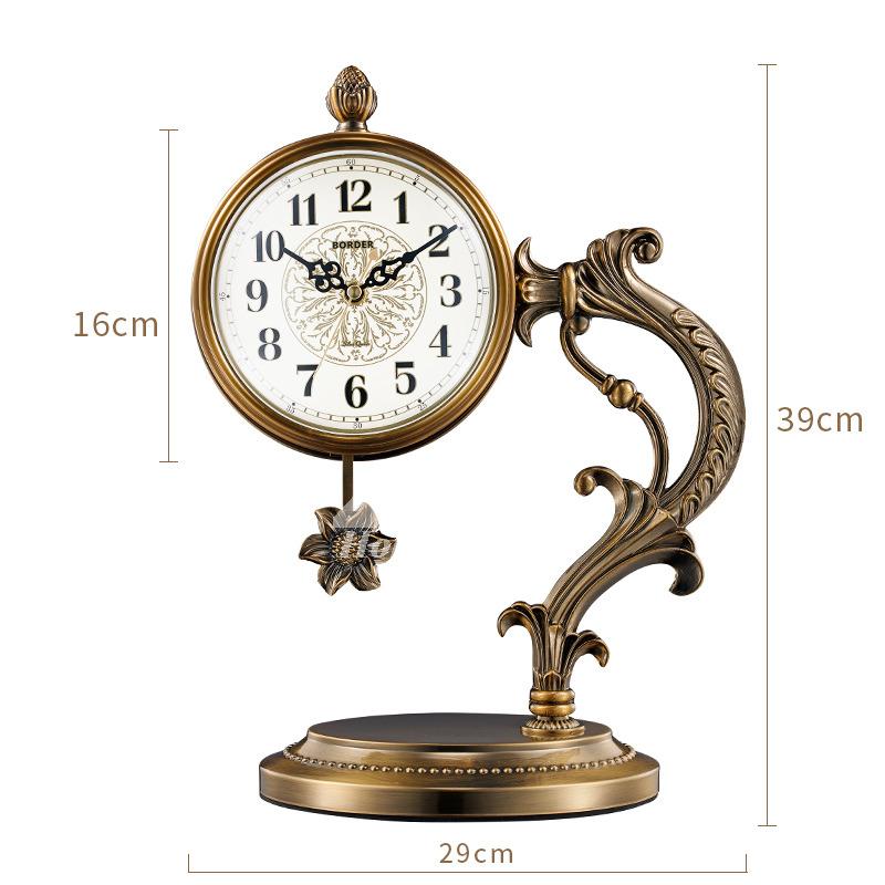 Pictures Show. Gold Vintage Silent Classic Desk Clock ...