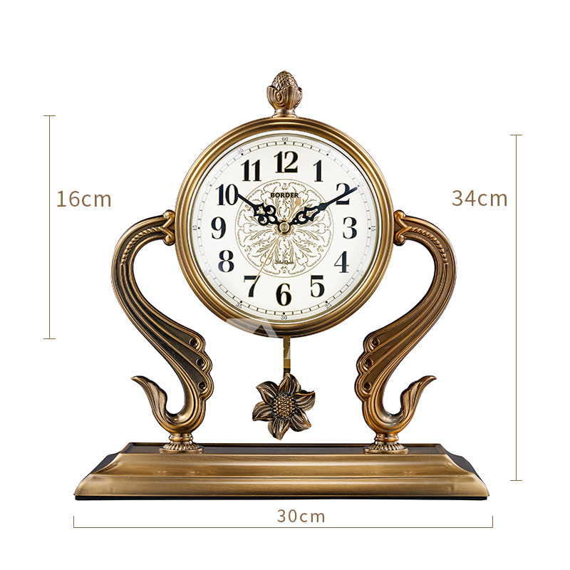 Pictures Show. Antique Table Clock Gold ...