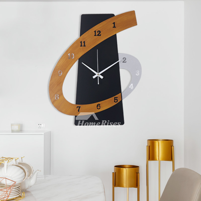 Personalized Creative Metal Wall Clocks Unique Living Room Digital