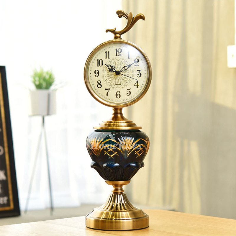 European Desk Clock Antique Vintage Clock Living Room Decoration Desk Clock Mute