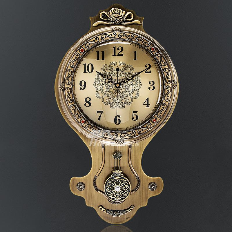 Creative Personality Swing Modern Wall Clock Fashion Pendulum Metal