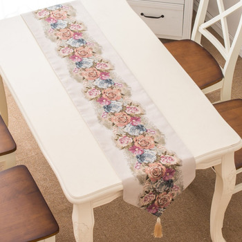 Long Floral Table Runner Dining Room