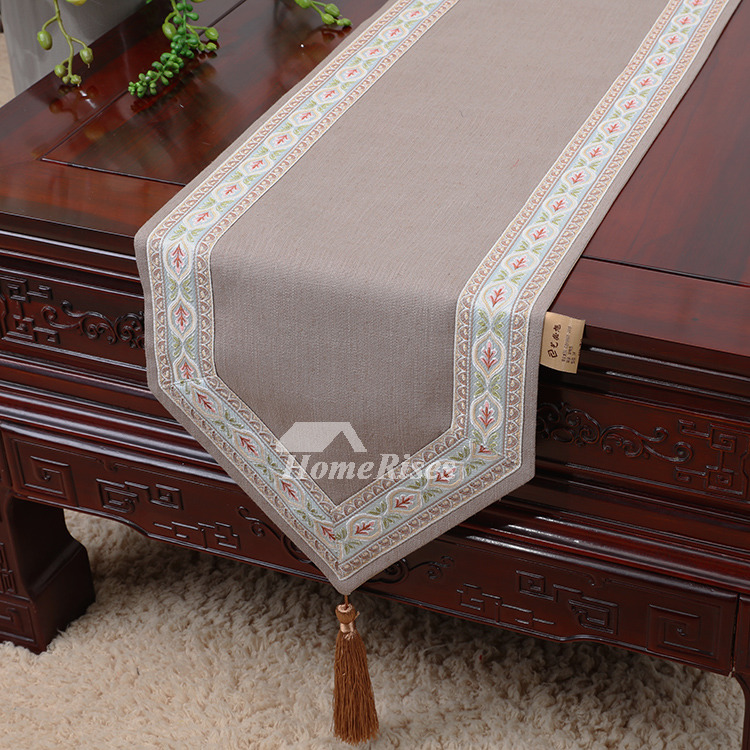 Dining Table Runner Tablecloth Small Cotton Linen Holiday 120 Inch