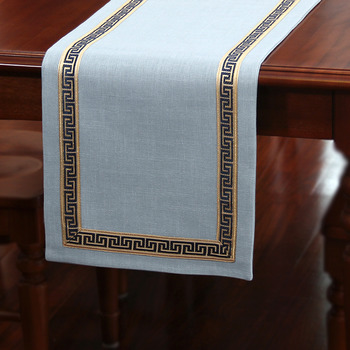 Extra Long Blue Table Runner