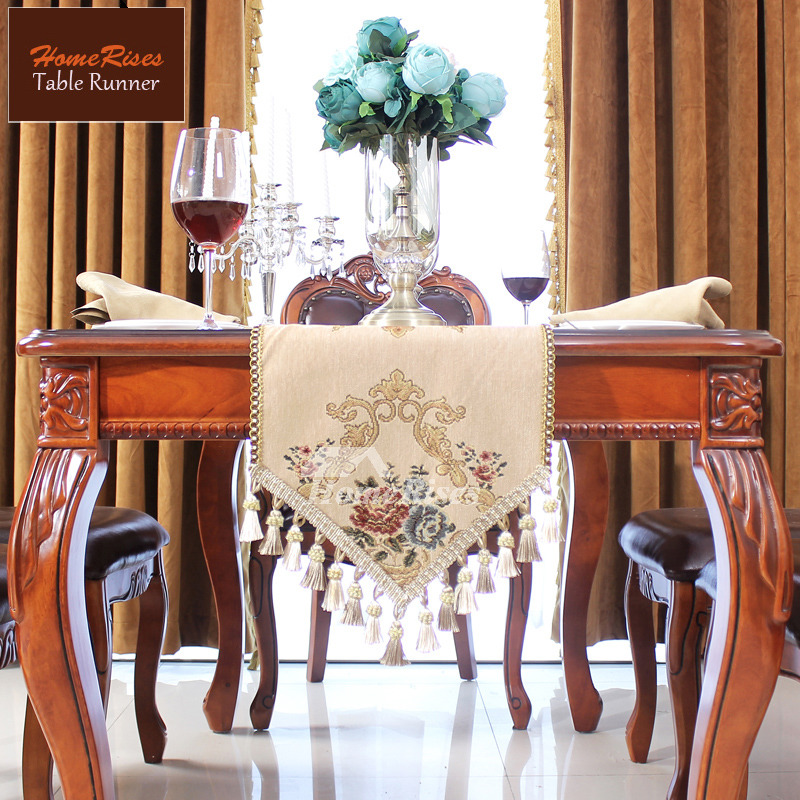 Palace European Table Runner Classical Luxury Tassel Fancy