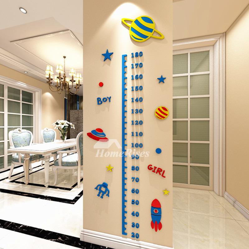 Cartoon Height Wall Decor Sticker 3d Acrylic Nursery Wall