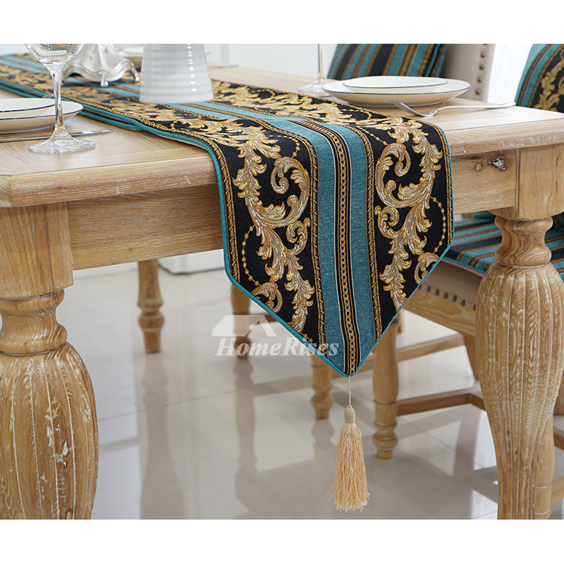 Coffee Table Runner.Classic European Style Living Room Dining Coffee Table Runner Striped