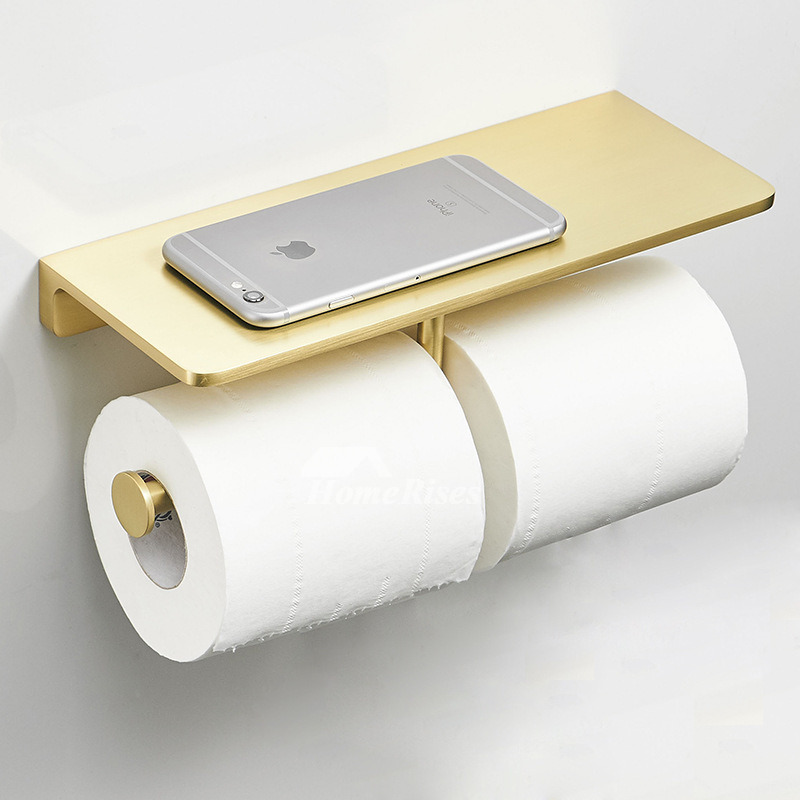 Luxury Double Gold Brushed Br Toilet