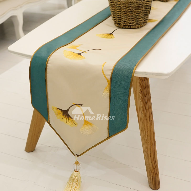 Wondrous Elegant Table Runners Modern 72 Inch Damask Dining Green Pabps2019 Chair Design Images Pabps2019Com