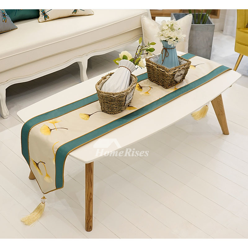 Sensational Elegant Table Runners Modern 72 Inch Damask Dining Green Pabps2019 Chair Design Images Pabps2019Com