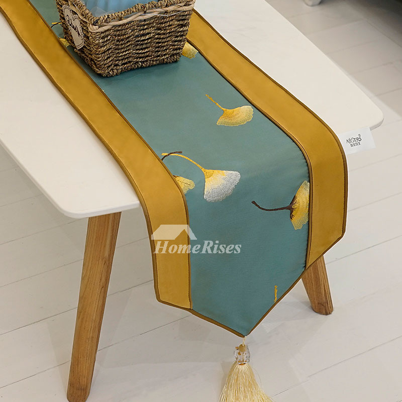 Superb Elegant Table Runners Modern 72 Inch Damask Dining Green Pabps2019 Chair Design Images Pabps2019Com