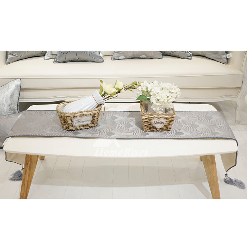 Modern Simple Luxury Table Runner 72 Inch Coffee Tablecloth
